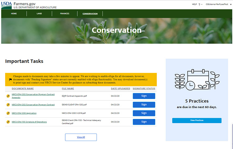 A screenshot of the farmers.gov website