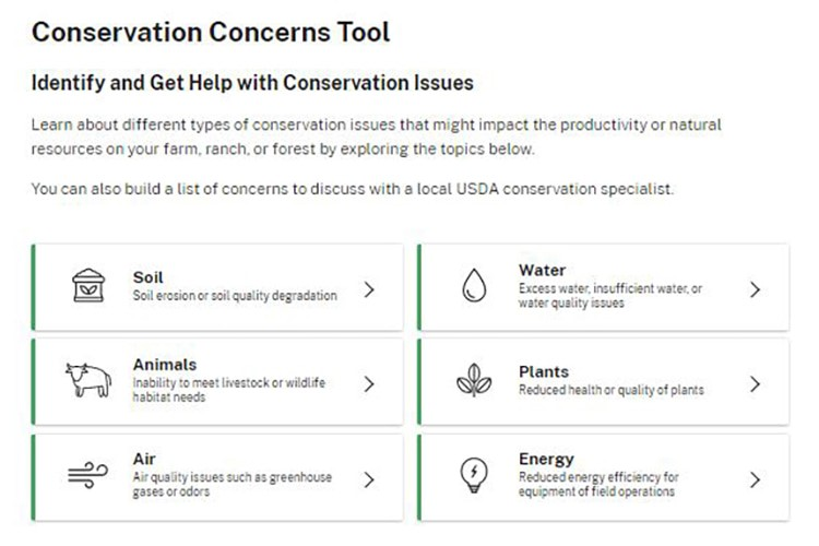 Conservation Concerns Tool