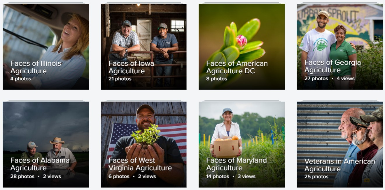 View the faces and places of American agriculture through our photo stream and photo albums.