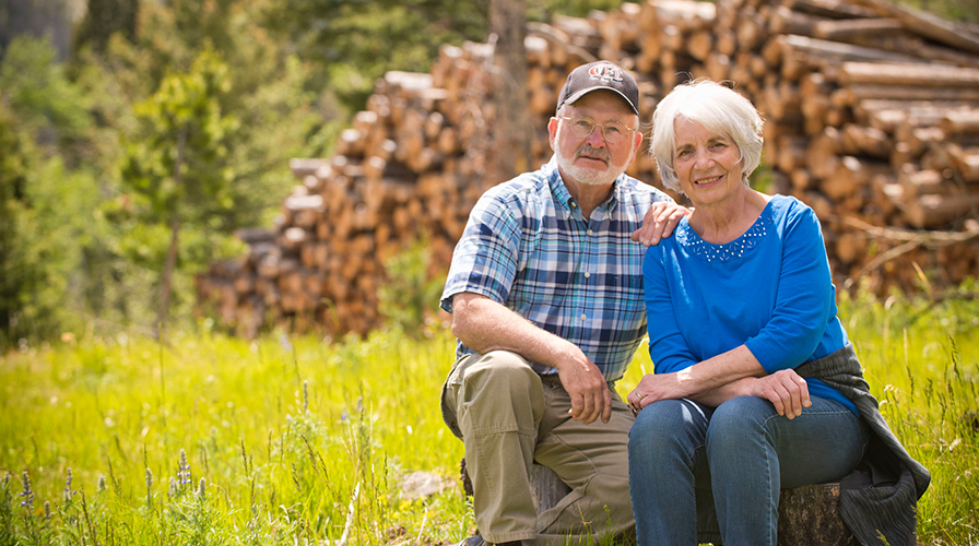 Pat and Judy McKelvey, timber producers in Jefferson County, Montana.