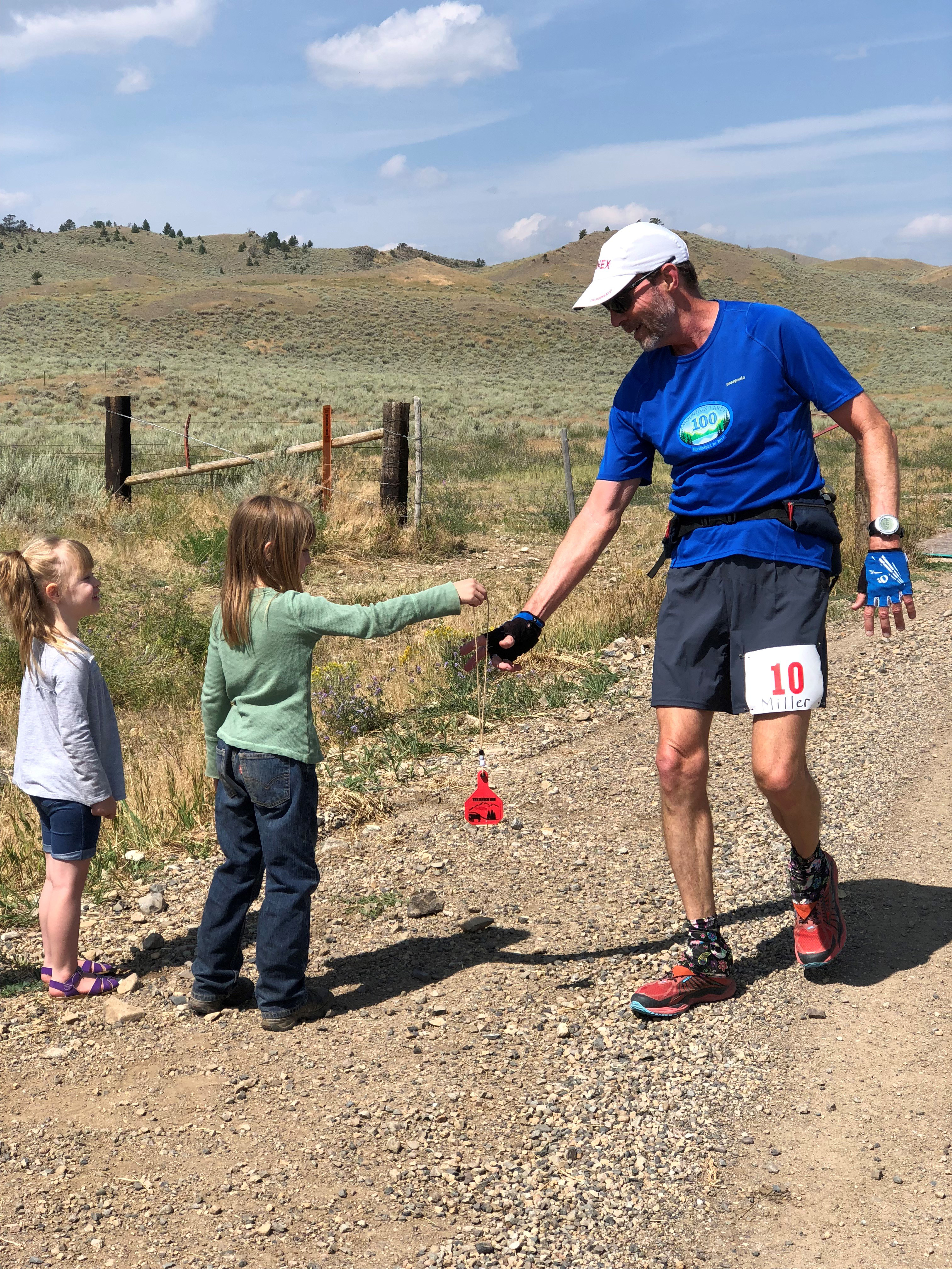 At the Montana Ranch Run, cattle ear tags were the finisher medals.