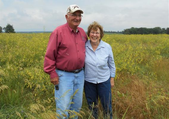 LeRoy and Marlene Buchholz on their farm