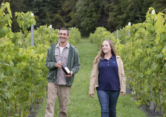 This Friday, meet Andy and India Farmer, who cultivate cold climate grapes in Pawlet, Vermont. The Farmers are early adopters in this niche industry.