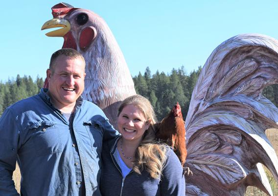 Allen and Emmy Widman, of Palouse Pasture Poultry in Rosalia, Washington.