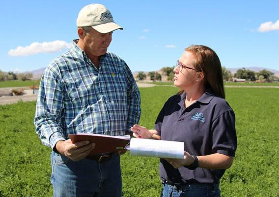 "Bill Renfroe, an Air Force veteran in Lovelock, Nevada, who can now add ""beginning farmer"" to his resume."