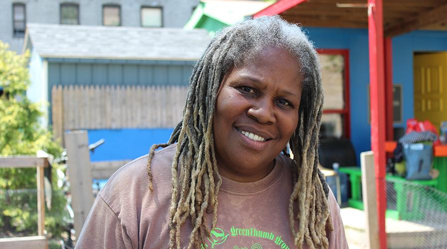 Karen Washington, an urban farmer in New York City who founded the Garden of Happiness and community farmers market