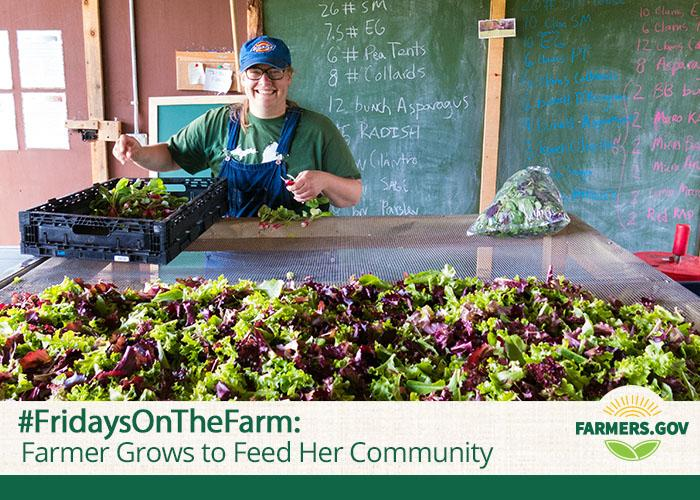 Baylee Drown is a farmer who works to provide locally-grown products to her neighbors in Old Lyme, Connecticut.