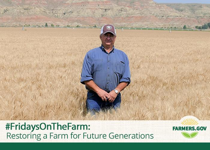 In this #FridaysOnTheFarm, meet Bill Schlenker, who is carrying on the family legacy, successfully farming the arid and productive land.