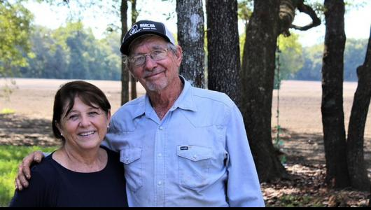 David and Gail Hodge, owners and operators of Hodge Farms in Newberry, Florida .