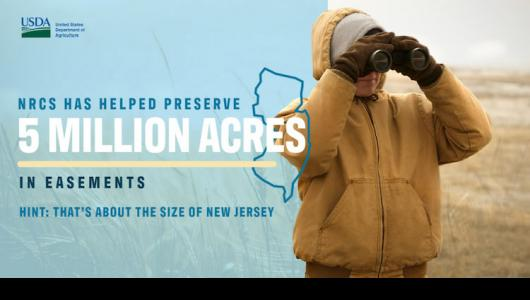 Celebration of 5 million scres of conservation for NRCS artwork