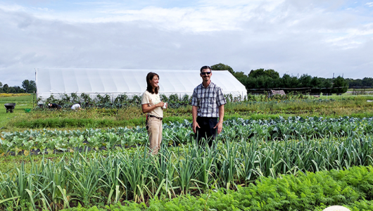 Sarah Longstreth owns Good Stead Farm, which is a source of fresh, local organic food in her community.